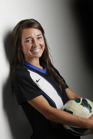 Photo - All City Soccer, Mikayla Lowery, Deer Creek, Tuesday, June 10, 2014. Photo by Doug Hoke, The Oklahoman