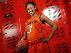 Photo - OSU women's college basketball player Tiffany Bias (3) poses for a portrait at Oklahoma State University in Stillwater, Okla., Thursday, Oct. 27, 2011.  Photo by Nate Billings, The Oklahoman ORG XMIT: KOD