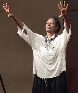 photo - Daisy Century portrays Harriet Tubman at the Oklahoma History Center. Photo By David McDaniel, The Oklahoman <strong>David McDaniel - The Oklahoman</strong>