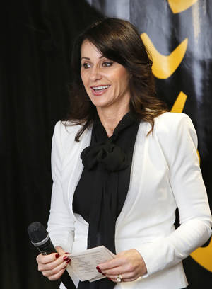 photo - Gymnast and Olympic gold medalist Nadia Comaneci is among the seven persons included in the 2013 Oklahoma Sports of Fame Induction Class.  Lt. Gov. Todd Lamb announced the names of the inductees during a luncheon at the Oklahoma Sports Hall of Fame in Oklahoma City on Tuesday, Jan. 15, 2013.     Photo by Jim Beckel, The Oklahoman