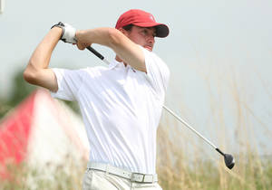 Photo - Stanford's Cameron Wilson tees off on the eighth hole during the third round of the NCAA national championship Monday, May 26, 2014, at Prairie Dunes Country Club in Hutchinson, Kan. (AP Photo/The Hutchinson News, Travis Morisse)