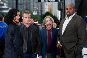 """Photo - From left, Indira Varma, Mark Valley, Jackie Earle Haley and Chi McBride in the second season premiere episode of """"Human Target."""" - FOX PHOTO <strong></strong>"""