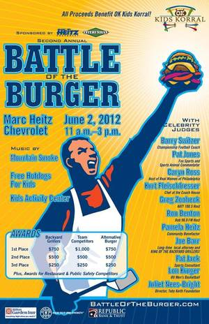 "Photo - The ""Battle of the Burger"" event is scheduled for Saturday and will benefit the OK Kids Korrall, part of the Toby Keith foundation. The OK Kids Korrall's aim is to provide a place to stay for pediatric cancer patients and their families while the patients are undergoing cancer treatments.  Photo Provided"