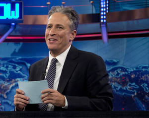 "Photo - FILE - In this Oct. 18, 2012 file photo, Jon Stewart speaks during a taping of ""The Daily Show with John Stewart"", in New York. The U.S. Embassy in Cairo has at least temporarily shut down its Twitter feed following an unusual diplomatic incident involving ""The Daily Show"" host Jon Stewart and the Egyptian government. (AP Photo/Carolyn Kaster, file)"