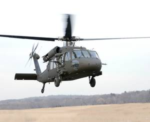 Photo - A Black Hawk helicopter by Sikorsky, which announced Friday it will open a training center in Altus.  PHOTO PROVIDED