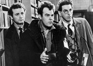 "Photo - FILE - In an undated file photo, Bill Murray, Dan Aykroyd, center, and Harold Ramis, right, appear in a scene from the 1984 movie ""Ghostbusters"". Harold Ramis died early Monday, Feb. 24, 2014, in Chicago from complications of autoimmune inflammatory disease, according Fred Toczek , an attorney for Ramis. He was 69. (AP Photo, File)"