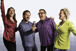 Photo - Mark Lowry, third from left, is on a concert tour with The Martins.  PHOTO PROVIDED <strong>Logan Dickerson -  Photo by Logan Dickerson </strong>