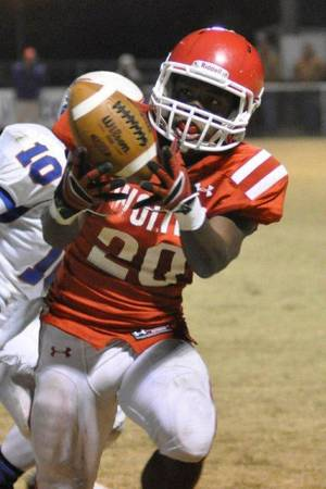 photo - De'aundre Carr leads Davis in rushing and has helped the Wolves reached the Class 2A state championship game Saturday night.  Photo provided by Davis High School