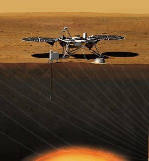 Photo -   This image provided by NASA shows an artist rendition of the proposed InSight (Interior exploration using Seismic Investigations, Geodesy and Heat Transport) Lander. After driving all around Mars with four rovers, NASA wants to look deep into the guts of the red planet. The space agency decided Monday, Aug. 20, 2012, to launch a relatively low-cost robotic lander in 2016 to check out what makes the Martian core so different from Earth's. NASA's Discovery program picked a project called Insight over missions to a Saturn moon and a comet, drawing complaints from scientists who study other places in our solar system that NASA is too focused on Mars. (AP Photo/NASA)