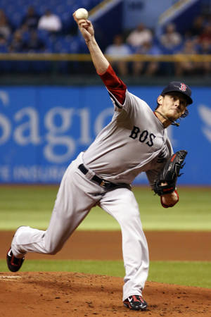 Photo -   Boston Red Sox's Clay Buchholz pitches against the Tampa Bay Rays during the first inning of a baseball game, Thursday, Sept. 20, 2012, in St. Petersburg, Fla. (AP Photo/Scott Iskowitz)