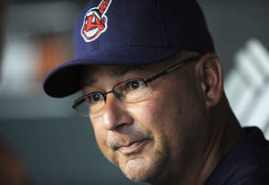Photo - In this June 24, 2013, photo, Cleveland Indians manager Terry Francona talks to reporters before the Indians' baseball game against the Baltimore Orioles in Baltimore. Francona was selected as the AL Manager of the Year on Tuesday, Nov. 12, 2013, by the Baseball Writers' Association of America, (AP Photo/Nick Wass)
