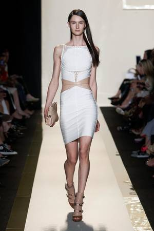 Photo -   In this photo provided by Herve Leger, the Herve Leger Spring 2013 collection is modeled during Fashion Week in New York, Saturday, Sept. 8, 2012. (AP Photo/Herve Leger)