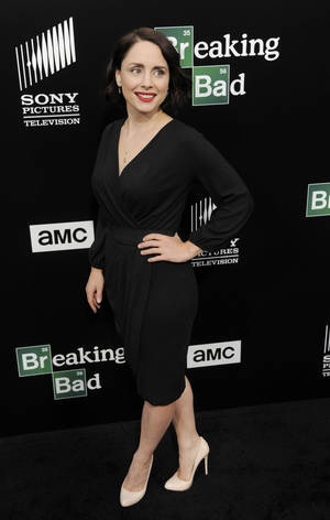 """Photo - Laura Fraser, a cast member in """"Breaking Bad,"""" poses at a premiere screening to celebrate the final episodes of the television series at Sony Pictures Studios in Los Angeles. AP PHOTO <strong>Chris Pizzello</strong>"""
