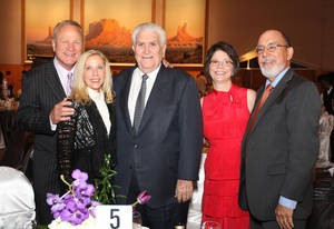 photo - Barry and Becky Switzer, Lee Allan Smith, Martha and Mike Larsen.  PHOTOS BY DAVID FAYTINGER, FOR THE OKLAHOMAN