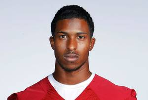 photo - Jalen Saunders, OU receiver. PHOTO BY TY RUSSELL, OU SPORTS INFORMATION