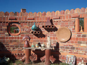 Photo - Potter's Shrine at the Archie Bray Foundation for the Ceramic Arts celebrates the Bray family's brick-making days. Photo courtesy of Adriana Gardella.