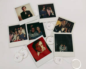 photo - This Jan. 16, 2013 photo shows various polaroids shot by Andy Warhol at Studio 54 on display in West Palm Beach, Fla. Memorabilia from the famed 1970s club is hitting the auction block in Florida. The private collection of co-founder Steve Rubell is being sold Saturday in West Palm Beach. (AP Photo/Alan Diaz)