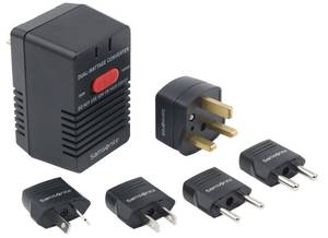 Photo - This undated photo provided by the Consumer Product Safety Commission shows the Samsonite Dual-Wattage Travel Converter Kit. Samsonite has recalled the converter kits, used to make standard U.S. and Canadian appliances usable abroad, because they can overheat if a load in excess of 50 watts is applied to the converter while in the 50-watt setting. This poses a fire and burn hazard to consumers. (AP Photo/Consumer Product Safety Commission)