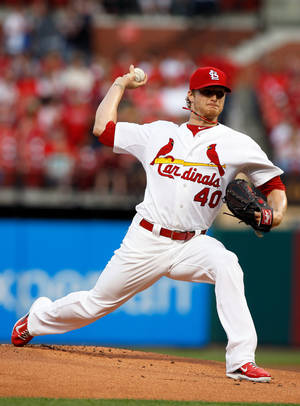 Photo - St. Louis Cardinals starting pitcher Shelby Miller throws during the first inning of a baseball game against against the Pittsburgh Pirates, Friday, April 25, 2014, in St. Louis. (AP Photo/Scott Kane)