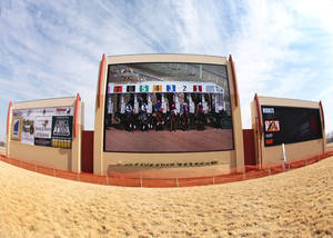 Photo - Racing fans will see new high-definition video boards today at Remington Park. Photos Provided by Remington Park