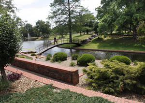 photo - Will Rogers Gardens in northwest Oklahoma City, shown here in a photo from this month, is an older city park with new additions. Ongoing efforts to improve the city's green spaces, and add new parks, could help the city move higher in rankings of big-city park systems in the U.S. <strong>Jim Beckel - The Oklahoman</strong>
