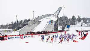 Photo - FILE - This is a  March 17, 2013 file photo of the Holmekollen skiing venue in Oslo during FIS World Cup women`s cross country relay. Oslo on Wednesday Nov. 13, 2013  submitted its bid for the 2022 Winter Olympics, where Holmenkollen is expected to be one of the main venues. (AP Photo/Vegard Grott, NTB scanpix, File)