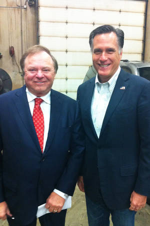 Photo - Harold Hamm and Mitt Romney are shown. Photo provided