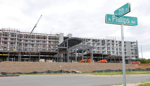 Photo -  Construction is expected to be complete this fall on an Embassy Suites hotel at NE 7 and Phillips Avenue in Oklahoma City. Photo by Paul B. Southerland, The Oklahoman  <strong>PAUL B. SOUTHERLAND</strong>