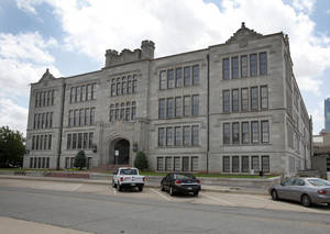 Photo - The old Central High School building is at 800 N Harvey in Oklahoma City. The Oklahoma City University Board of Trustees will meet Oct. 24 to consider plans to acquire the 177,000-square-foot building.  Photo By  Steve Gooch,  The Oklahoman