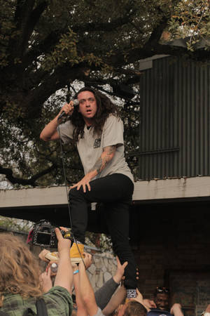 Photo - Lee Spielman of Trash Talk. Photo by Matt Carney