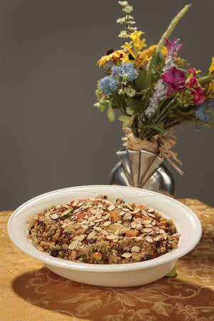 photo - Couscous with Vegetables  and Toasted Almonds.  Photo By David McDaniel, The Oklahoman <strong>David McDaniel - The Oklahoman</strong>