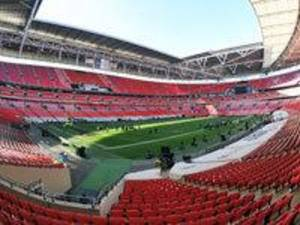 Photo - A general overall view of Wembley Stadium in London Saturday, Oct 27th prior to a week 8 NFL football International Series game between the St. Louis Rams and New England Patriots.  (AP Photo/G. Newman Lowrance)