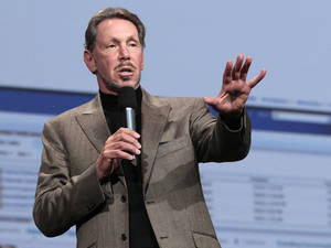 photo -   In this Oct. 5, 2011 photo, Oracle CEO Larry Ellison speaks during the Oracle OpenWorld Keynote in San Francisco. Ellison has reached a deal to buy 98 percent of the island of Lanai from its current owner, Hawaii Gov. Neil Abercrombie said Wednesday, June 20, 2012. (AP Photo/Jeff Chiu)