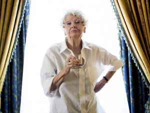 "Photo - FILE - This Sept. 11, 2012 file photo shows actress Elaine Stritch poses for a photograph during the 2012 Toronto International Film Festival in Toronto. Stritch discusses her experience being documented for ""Elaine Stritch: Shoot Me,"" a film at the Tribeca Film Festival.  (AP Photo/The Canadian Press, Frank Gunn, file)"