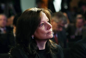 Photo - FILE - In this Jan. 14, 2013, file photo, General Motors Senior Vice President Mary Barra is seen during presentation of the North American Car & Truck of the Year at the North American International Auto Show in Detroit. Barra was named GM CEO on Tuesday, Dec. 10, 2013, making her the first woman to lead a U.S. car company. (AP Photo/Carlos Osorio, File)
