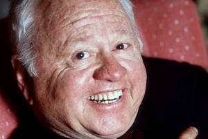 Photo - FILE - Entertainer Mickey Rooney is shown in this May 1987 file photo. Rooney, a Hollywood legend whose career spanned more than 80 years, has died. He was 93. Los Angeles Police Commander Andrew Smith said that Rooney was with his family when he died Sunday, April 6, 2014, at his North Hollywood home. (AP Photo/File)