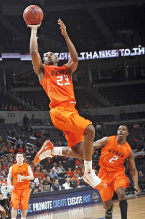 Photo - OSU's James Anderson was named a second-team AP All-American on Monday.  PHOTO BY CHRIS LANDSBERGER, THE OKLAHOMAN