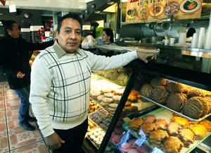 Photo - Ramiro Vasquez is the owner of La Oaxaquena Bakery in SW Oklahoma City on Friday.  Photo by Paul Hellstern, The Oklahoman <strong>PAUL HELLSTERN</strong>