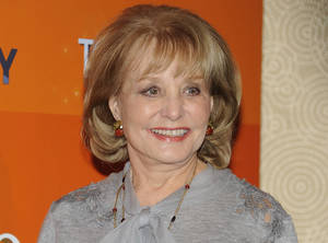 "Photo -   FILE - In this Jan. 12, 2012 file photo, Barbara Walters attends the ""Today"" show 60th anniversary celebration at the Edison Ballroom in New York. Walters is apologizing for trying to help a former aide to Syrian President Bashar Al-Assad land a job or get into college in the United States. Sheherazad Jaafari is the daughter of the Syrian ambassador to the United States and a one-time press aide to Assad. Jaafari played a role in Walters' landing an interview with the Syrian president in December.(AP Photo/Evan Agostini)"