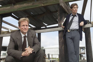 "Photo - This image released by HBO shows Woody Harrelson, left, and Matthew McConaughey from the HBO series ""True Detective,"" premiering Jan. 12, at 9 p.m. EST. (AP Photo/HBO, Jim Bridges)"
