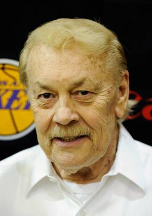 photo - Lakers owner Jerry Buss is dying of cancer, according to a Radar Online report on Feb. 14, 2013. Buss is seen here in a May 2011 photo. (File photo by Kevork Djansezian/Getty Images)