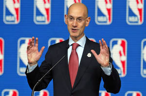 Photo - FILE - In this Feb. 15, 2014 file photo, NBA Commissioner Adam Silver speaks at a news conference before the skills competition at the NBA All Star basketball weekend, in New Orleans. NBA owners hold their end-of-season meeting with Silver, with the potential sale of the Milwaukee Bucks among the most important issues, Friday. April 18, 2014 in New York. (AP Photo/Bill Haber, File)