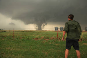 Photo - University of Oklahoma graduate Reed Timmer has turned his love for severe weather into the series ?Storm Chasers.? Photos provided <strong></strong>