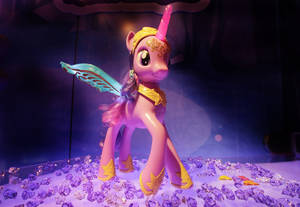 Photo - FILE - In this Feb. 12, 2013 file photo, Hasbro's My Little Pony Feature Princess Twilight Sparkle pony is displayed at the American International Toy Fair in New York. Hasbro Inc.'s reports quarterly earnings on Monday, Feb. 10, 2014. (AP Photo/Mark Lennihan, File)