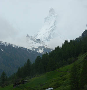 Photo -  The Matterhorn in Switzerland has more ski-trail access than any other resort area in the world. Photo courtesy of John Blanchette.