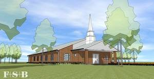 Photo - An architect's rendering shows the new prison chapel to be built in September at Mabel Bassett  Correctional Center in McLoud. Provided <strong></strong>