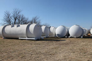 photo - Google Inc. has donated 30 water-storage tanks to county officials and fire departments in Mayes County, home of its Oklahoma data center. Each tank weighs more than 15,000 pounds and is 10 feet tall by 30 feet long. Provided photo