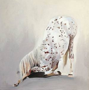 """Every Knee"" by Kristen Vails is featured in the new exhibit ""The Dog & Pony Show"" at In Your Eye Gallery. Photo provided. <strong></strong>"