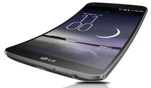 Photo - LG G Flex is the world's first curved flexible smartphone, coming soon to the U.S.                    PRNewsFoto/LG Electronics USA