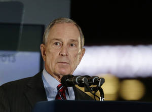 Photo - New York City Mayor Michael Bloomberg speaks during the State of the City address Thursday, Feb. 14, 2013, at the Barclays Center, Brooklyn's new arena, in New York.  His 12 years in office may be winding down, but Bloomberg says he has plenty of unfinished business he wants to get done.  (AP Photo/Frank Franklin II)